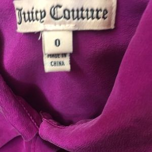 Juicy Couture Silk fuchsia Pink size 00